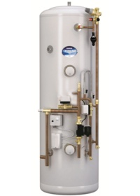 A typical unvented hot water cylinder